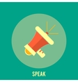 Icon of megaphone speak concept vector