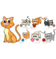 Cats and kittens vector