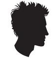 Man head silhouette vector