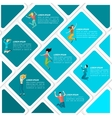 Jumping people infographic vector