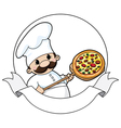 Pizza chef banner vector