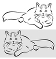 Sketch of a cat vector