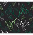 Dandelion flower pattern vector