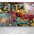 Graffiti on wall vector