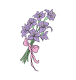 Bouquet from abstract lilies vector