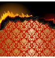 Piece of burning paper vector