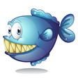 Blue fish vector