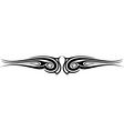 Ornament wing silhouette vector