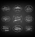 Set of vintage retro christmas and new year labels vector
