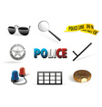 Police order icon set vector