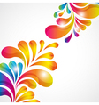 Abstract background with bright teardrop-shaped vector