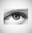 Human eye black and white halftone vector