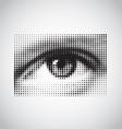 Human eye black and white halftone vector