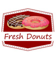 A food with a fresh donuts label vector