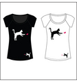 Cat woman t shirt print vector