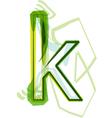 Green letter k vector