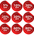 Discount stickers vector