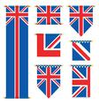 United kingdom banners vector