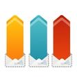 Colorful text box arrow vector