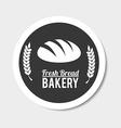 Bakery design over gray background vector