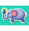 Elephant and ball vector