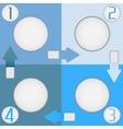 Four color squares vector