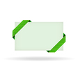 Green gift card with dashed ribbon vector