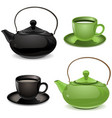 Teapot and cup vector