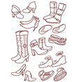 Female footwear vector