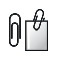 Paper clip and paper vector