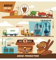 Bread production stages vector