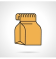 Food pack flat icon vector