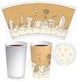 Cup for coffee vector