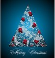 Silver blue christmas tree vector