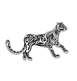 Ethnic ornamented panther vector