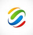 Colorful loop business logo vector