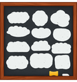 Hand drawn clouds vector