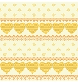Seamless background hearts and patterns vector