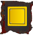 Square yellow sign over rusty background vector