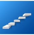 Blue abstract background with white stairs vector