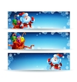 Banner with a bag of christmas gifts vector