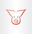 Pig symbol pork meat icon design vector