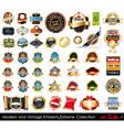 Modern and vintage emblems vector
