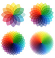 Abstract color flowers set vector