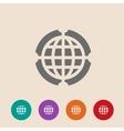 Globe icon  flat design style vector