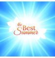 Summer background with bright sun in the sky vector