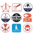 Seafood vector