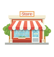 Store building isolated on white vector