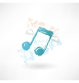 Music wings grunge icon vector