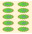 Labels discounts vector